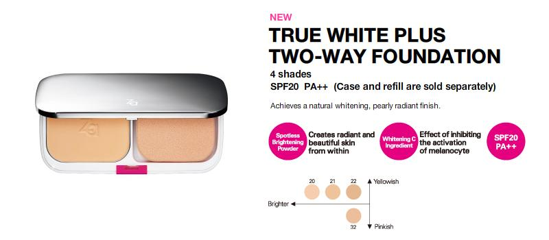 Shiseido ZA True White Plus Two-Way Foundation 1