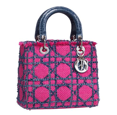 Dior Tweed and Crocodile Lady Dior Bag Spring Summer 2011 1