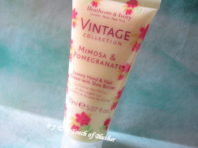 Heathcote and Ivory Vintage Collection Mimosa and Pomegranate Hand and Nail Cream 1