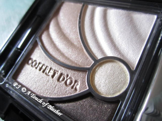 Kanebo Coffret d'Or Wide Gradation Eyes 04 Deep Brown Spring 2012 Makeup 2