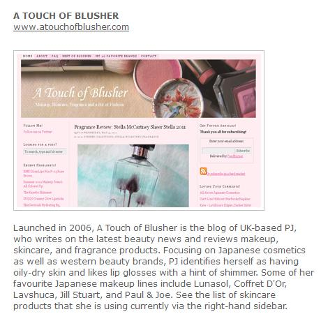 A Touch of Blusher The Good Web Guide's Best Beauty Blogs