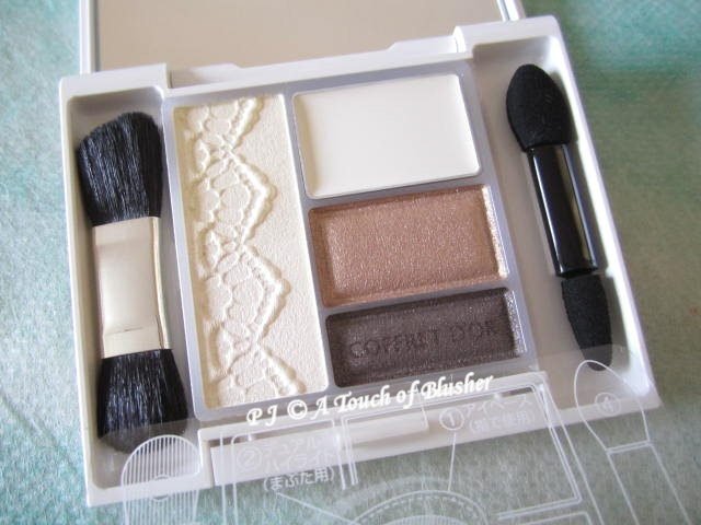Kanebo Coffret d'Or Beauty Face Shadow 02 Cream Brown Summer Fall 2012 Makeup 1