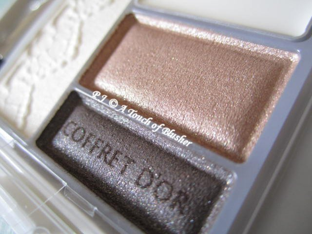 Kanebo Coffret d'Or Beauty Face Shadow 02 Cream Brown Summer Fall 2012 Makeup 2