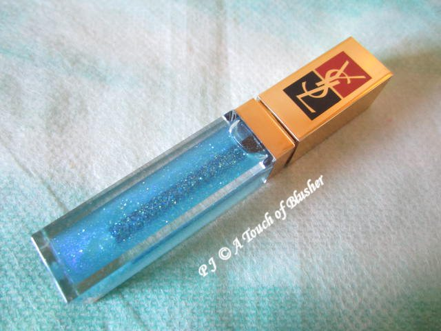 YSL Golden Gloss 55 Arctic Blue Holiday 2012 Makeup 1