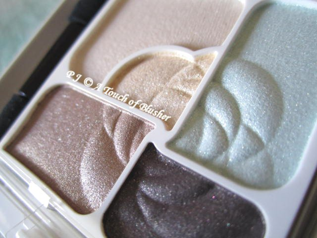 Kanebo Coffret d'Or 3D Gradation Eyes 02 Mint Brown Late Summer Early Fall 2013 Makeup 2