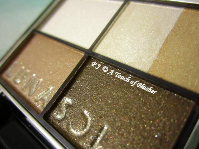 Kanebo Lunasol Vivid Clear Eyes 04 Khaki Beige Collection Spring 2013 Makeup 2