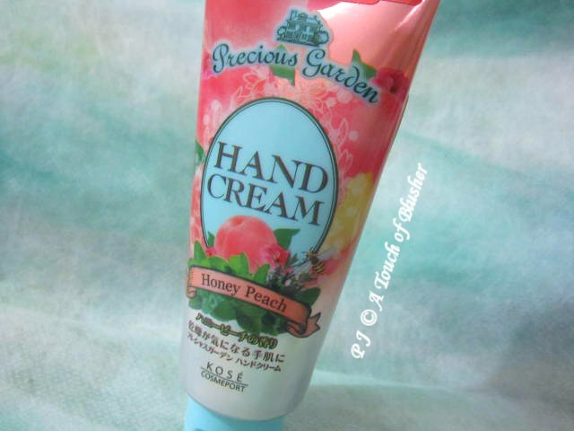 Kose Kose Cosmeport Precious Garden Hand Cream Honey Peach Fall 2014 Bodycare Handcare 1