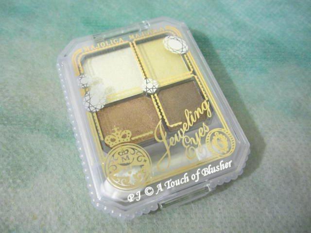 Shiseido Majolica Majorca Jeweling Eyes GD886 Summer 2009 Makeup 1
