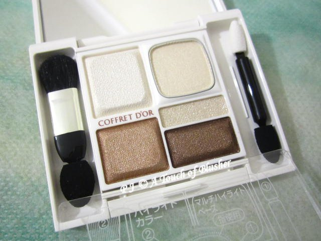 Kanebo Coffret d'Or Full Smile Eyes 03 Bronze Brown Late Summer Early Fall 2014 Makeup 1