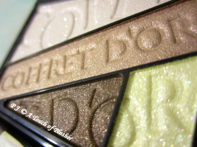 Kanebo Coffret d'Or Beauty Aura Eyes 01 Yellow Brown Holiday 2016 Makeup 2